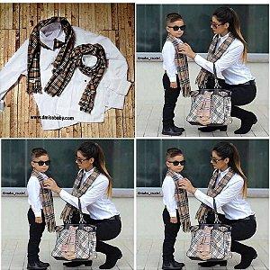 Kit mãe e Filho Insperid- 2 Cachecol  ( Leia  as inform. do produto abaixo )