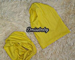 Kit touca e gola - Amarelo