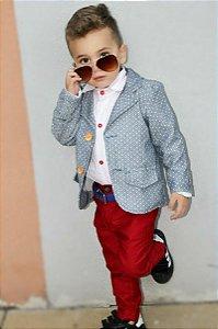 Conjunto Homenzinho Kids BORDO - 3 ´pecas