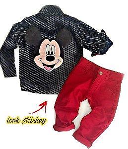 Look Inspired Festa Vermelha Mickey  - Com Calça Vermelha