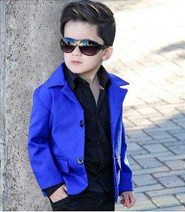 Look Blazer Azul - 3  Pecas