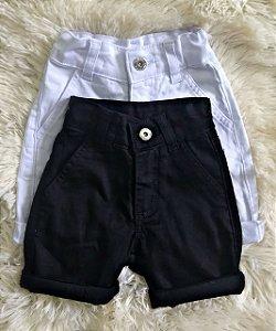 Bermudas em sarja Jeans - 2 pecas