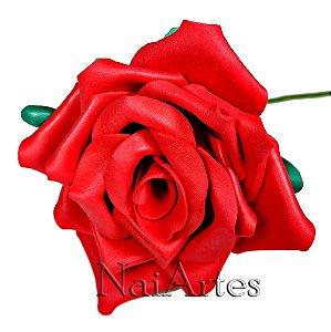 Flor Artificial Rosa Vermelha Dúzia
