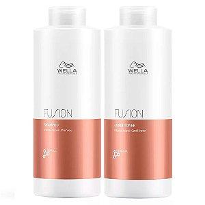 Kit Fusion Wella Professionals Shampoo + Condicionador 1L