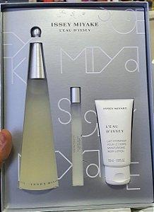 Kit Perfume Issey Miyake L'Eau D'Issey 100ml + 10ml + Hidratante 50ml