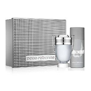 Kit Invictus Eau De Toilette Paco Rabanne Perfume Masculino 100ml + deodorant 150ML