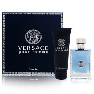 Kit Versace Pour Homme Eau de Toilette Versace - Perfume Masculino 100ML + Gel de Banho 100ml