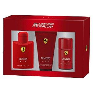 Kit Ferrari Red EDT 125ml + Desodorant Stick 75ml + Gel Banho 150ml - Masculino