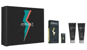 Kit Animale For Men Eau de Toilette 100ml + Pós-Barba 100ml + Gel de Banho 100ml + Miniatura - Masculino