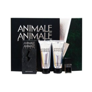 Kit Animale Animale For Men Eau de Toilette 100ml + Pós Barba 100ml + Sabonete para Corpo e Cabelo 100ml + Miniatura 7,5ml