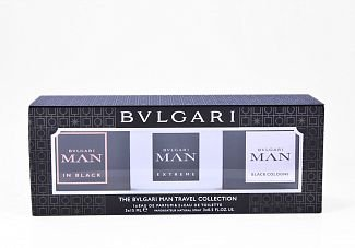 The Bvlgari Man Travel Collection - 15ML x 3 Perfumes Masculinos