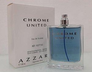 Tester Azzaro Chrome United EDT Azzaro 100ML - Perfume Masculino