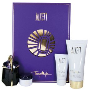 Kit Alien Mugler Eau de Parfum 30ml + Body Lotion 100ml + Gel de Banho 30ml + Creme 30ml - Feminino