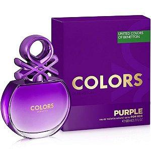 Colors For Her Purple  Eau de Toilette Benetton 80ml - Perfume Feminino