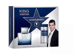Kit  King of Seduction Eau de Toilette Antonio Banderas 100ML + Desodorante 150ML  - Masculino