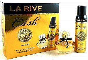 Kit La Rive Cash Woman Eau de Parfum 90 ML + Desodorante 150ML