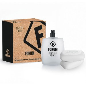 Kit Forum Classic Jeans Deo Colôlinia 100ML + 2 Sabonetes 90g