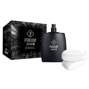 Kit Forum Jeans 2 - Deo Colôlinia 100ML + 2 Sabonetes 90g