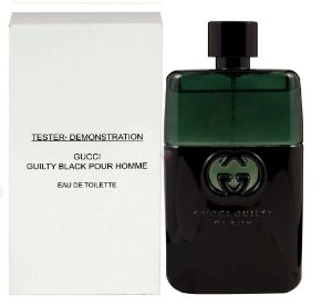 Tester Gucci Gulty Black Pour Homme EDT Gucci Guilty 90ML  - Perfume Masculino