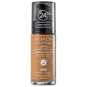 Base Revlon ColorStay Pele Mista e Oleosa Cor 400 Caramel 30ml - Base Líquida FPS 15