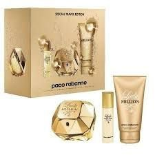 Kit Lady Million Feminino Eau de Parfum Paco Rabanne 80 ml + Miniatura 15ml + 1 Sensual Body Lotion 100 ml