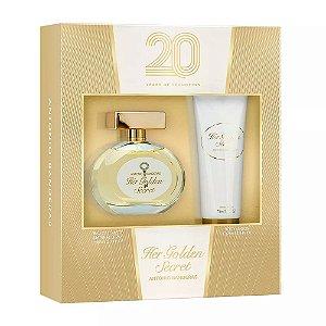 Kit Her Golden Secret Eau de Toilette Antonio Banderas 80ML + Body Locion 75ML - Feminino