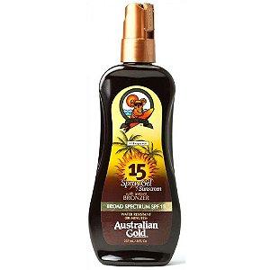 Spray Bronzeador Australian Gold Instant Bronzer FPS 15 - 237ML