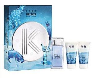 Kit L'Eau Kenzo Pour Homme Eau de Toilette 50ml + Hair & Shower Gel 2x50ml - Masculino