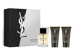 Kit L'homme Yves Saint Laurent Eau de Toilette 100ml + Pós Barba 50ml + Gel de Banho 50ml - Masculino