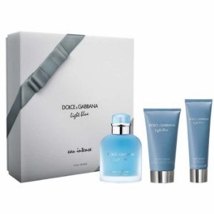 Kit Dolce & Gabbana Ligth Blue Eau Intense Pour Homme Shower + Shower Gel + After Shave Balam