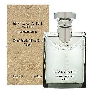 Tester Bvlgari Pour Homme Soir EDT BVLGARI 100ml - Perfume Masculino