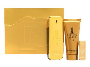 KIt 1 million Paco Rabanne Eau de Toilette 100ml + Miniatura 5ml + Gel de Banho 100ml - Masculino