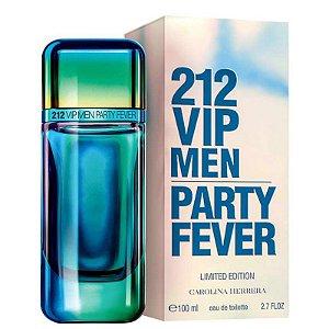 212 VIP Men Party Fever Carolina Herrera Eau de Toilette 100ml - Perfume Masculino
