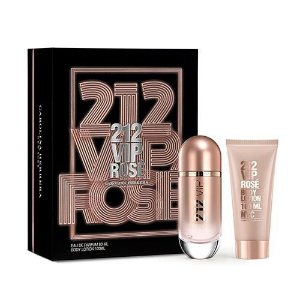 Kit 212 Vip Rosé Feminino Eau de Parfum 80ml + Body Lotion 100ml