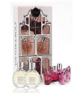 Kit Miniaturas Viktor & Rolf - Flowerbomb - Bonbon - Perfumes Femininos