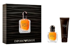 Kit Stronger With You Emporio Armani Eau de Toilette 30ml + Gel de Banho 75ml - Masculino