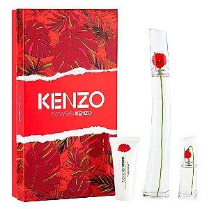 Kit Flower by Kenzo Eau de Parfum 100ml + Loção Corporal 50ml + Miniatura 15ml - Feminino