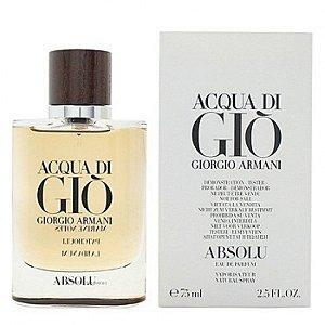 Tester Acqua di Gio Absolu Giorgio Armani Eau de Parfum 75ml - Perfume Masculino