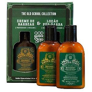 Kit QOD Barber Shop Whiskey - Creme de Barbear 145g + Loção Pós-Barba 165g