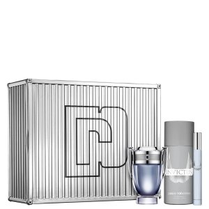 Kit Invictus Paco Rabanne Eau de Toilette 50ml + Desodorante 150ml + Travel Spray 10ml - Masculino
