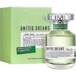 Miniatura United Dreams Live Free Eau de Toilette Benetton 6,5ml - Perfume Feminino