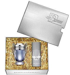 Kit Invictus Paco Rabanne Eau De Toilette 100ml + Desodorante 150ml - Masculino