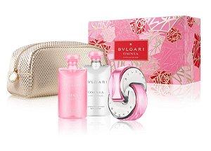 Kit Bvlgari Omnia Pink Saphire Eau de Toilette 65ml + Body Lotion 75ml + Shower Gel 75ml + Nécessaire