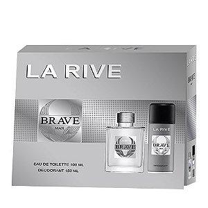 Kit Brave La Rive Eau de Toilette 100ml + Desodorante 150ml - Masculino