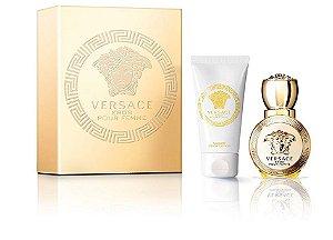 Kit Eros Pour Femme Eau de Parfum Versace 100ml + Luxury Body Lotion 100ml