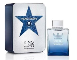 Box Metálico King of Seduction Eau de Toilette Antonio Banderas 200ml - Perfume Masculino
