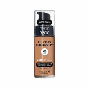 Base Revlon ColorStay Pele Mista e Oleosa Cor 350 Rich Tan 30ml - Base Líquida FPS 15