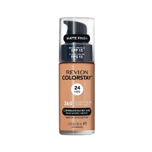 Base Revlon ColorStay Pele Mista e Oleosa Cor 360 Golden Caramel 30ml - Base Líquida FPS 15