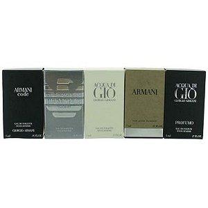 Kit 5 Miniaturas Giorgio Armani - Masculino