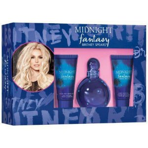 Kit Fantasy Midnight Britney Spears Eau de Parfum 100ml + Gel de Banho 50ml + Creme Corporal 50ml